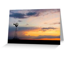 Windmill on the Plains Greeting Card
