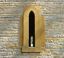 Lancet windows, Leicester Tower, Evesham, UK by John Evans