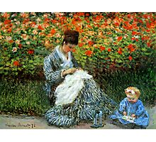 Madame Monet 3-D Redux Photographic Print