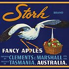 Stork Australia Fruit Crate Lable by LABELSTONE