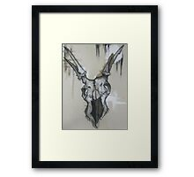 Basic Instinct Is The Key To Survival-Deer Skull Framed Print