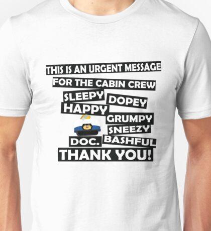 Cabin Pressure- dwarf names Unisex T-Shirt