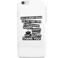 Cabin Pressure- dwarf names iPhone Case/Skin
