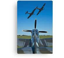 Flying Heroes Canvas Print
