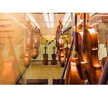 The museum of violins in Milan, Italy Photographic Print