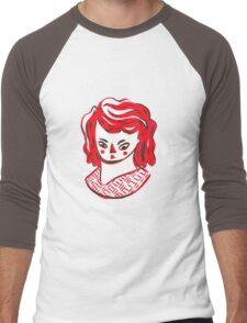Red Girl Men's Baseball ¾ T-Shirt