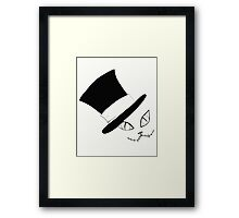 Cheshire Cat in the Hat Framed Print
