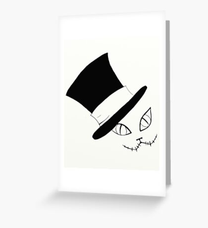 Cheshire Cat in the Hat Greeting Card