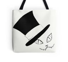 Cheshire Cat in the Hat Tote Bag