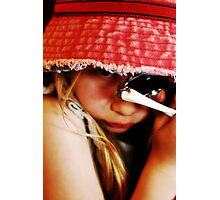 The Girl in the Faded Red Hat #2 Photographic Print