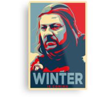 Ned Stark - Winter Is Coming Metal Print