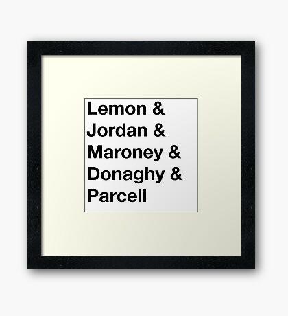30 Rock Cast Names Framed Print