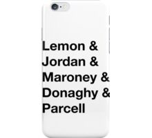 30 Rock Cast Names iPhone Case/Skin