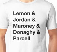 30 Rock Cast Names Unisex T-Shirt