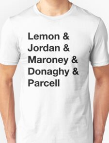30 Rock Cast Names T-Shirt