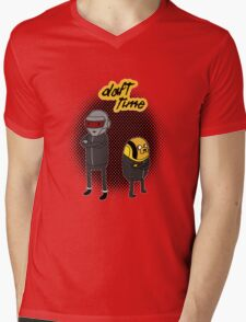 Daft Time Mens V-Neck T-Shirt