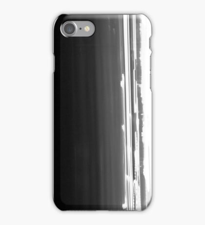 Iight Painting of  Car Lights At The Speed of Light black and white iPhone Case/Skin