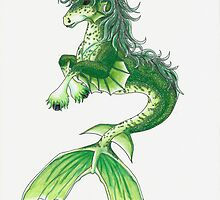 Kelpie Mystical Sea Monster by Briana Kane