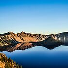morning on crater lake by maria miller