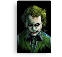 Heath Ledger Joker Print Canvas Print