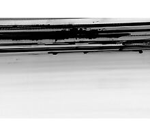inverted Iight Painting of  Car Lights At The Speed of Light black and white Photographic Print