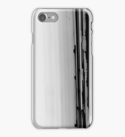 inverted Iight Painting of  Car Lights At The Speed of Light black and white iPhone Case/Skin
