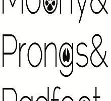 padfoot, moony, prongs by caitlyny12
