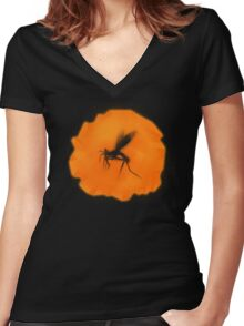 AMBER INSECT Women's Fitted V-Neck T-Shirt