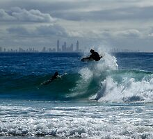 Air Time - Snapper Rocks by Noel Elliot