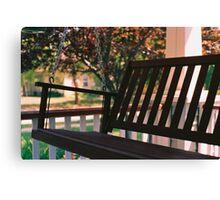 Porch Swing Canvas Print