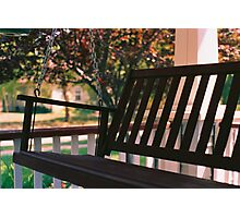 Porch Swing Photographic Print