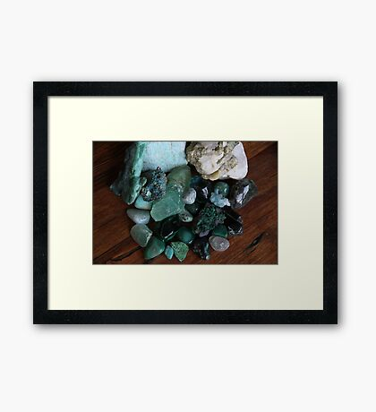 Crystals: The Green Collection Framed Print