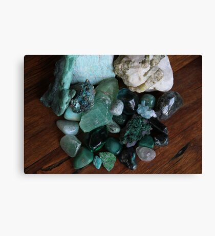 Crystals: The Green Collection Canvas Print