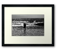 Contemplating The Ocean Framed Print