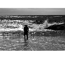 Contemplating The Ocean Photographic Print