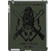 Spartans Never Die iPad Case/Skin