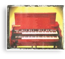 Hammond B3 music print photographic art print guitar music wall decor Canvas Print