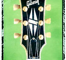 Gibson guitar print photographic music print music wall decor by guitarartprint