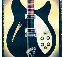 Rickenbacker guitar art print photographic print music wall decor by guitarartprint