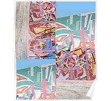 Graffitti Wall montage Poster