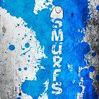 Smurfs Paint Splatter by LexingtonD