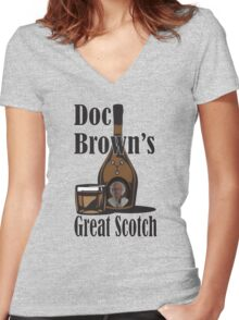 Doc Brown's Great Scotch Women's Fitted V-Neck T-Shirt