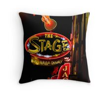 The Stage in Nashville Throw Pillow