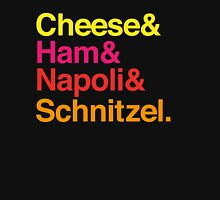 Cheese & Ham & Napoli & Schnitzel - Coloured Unisex T-Shirt