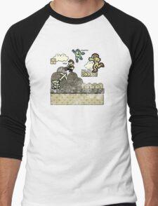 Mega Man Joins The Battle! Men's Baseball ¾ T-Shirt