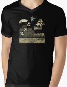 Mega Man Joins The Battle! Mens V-Neck T-Shirt
