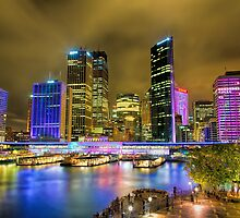 Colourful Circular Quay by renekisselbach