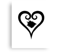 Sora Heart - Black (Kingdom Hearts) Canvas Print