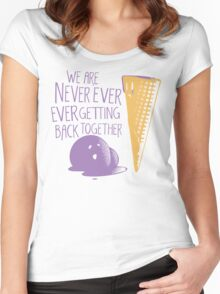 Never Ever Getting Back Together Women's Fitted Scoop T-Shirt