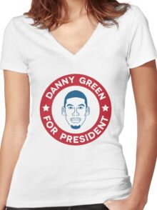 Danny Green for President Women's Fitted V-Neck T-Shirt